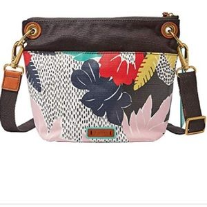 NWT Fossil Keely floral crossbody